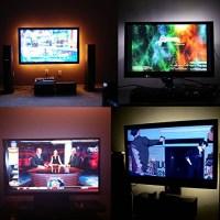 LED Home Theater TV BackLight Accent Back Lighting Kit ...