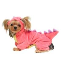 Small Pet Warm Fleece Costumes Dog Dinosaur Style Puppy ...
