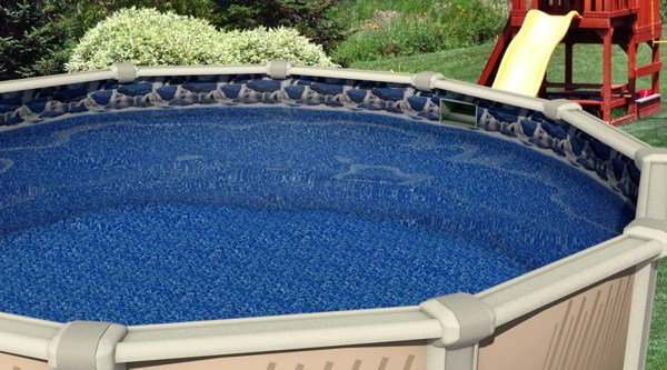 24' Ft Overlap Waterfall Above Ground Swimming Pool Liner 20 Gauge