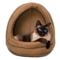 Furhaven Pet NAP Hood Pet Bed Small Dog or Cat Bed Lounger ...