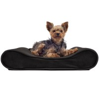 FurHaven Microvelvet Luxe Lounger Contour Orthopedic Dog ...