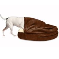 FurHaven Faux Sheepskin Snuggery Orthopedic Dog Cave Bed ...