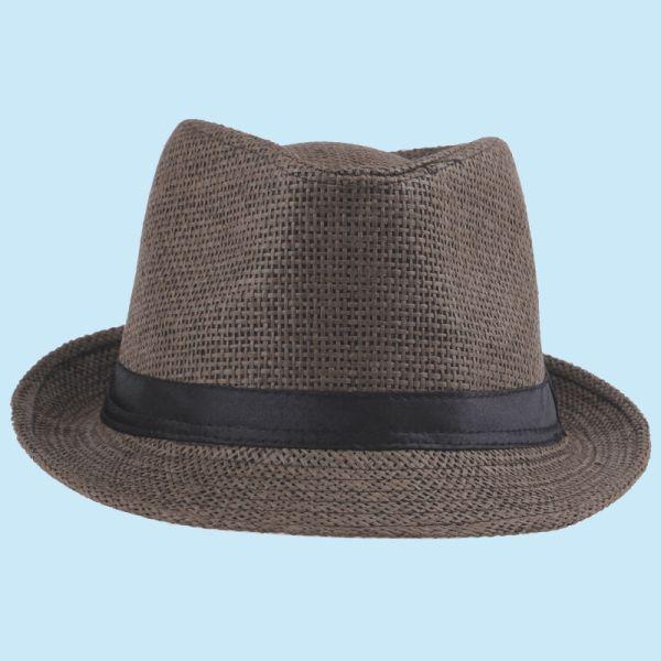 Men Women Fedora Hat Trilby Panama Beach Sun Straw Short