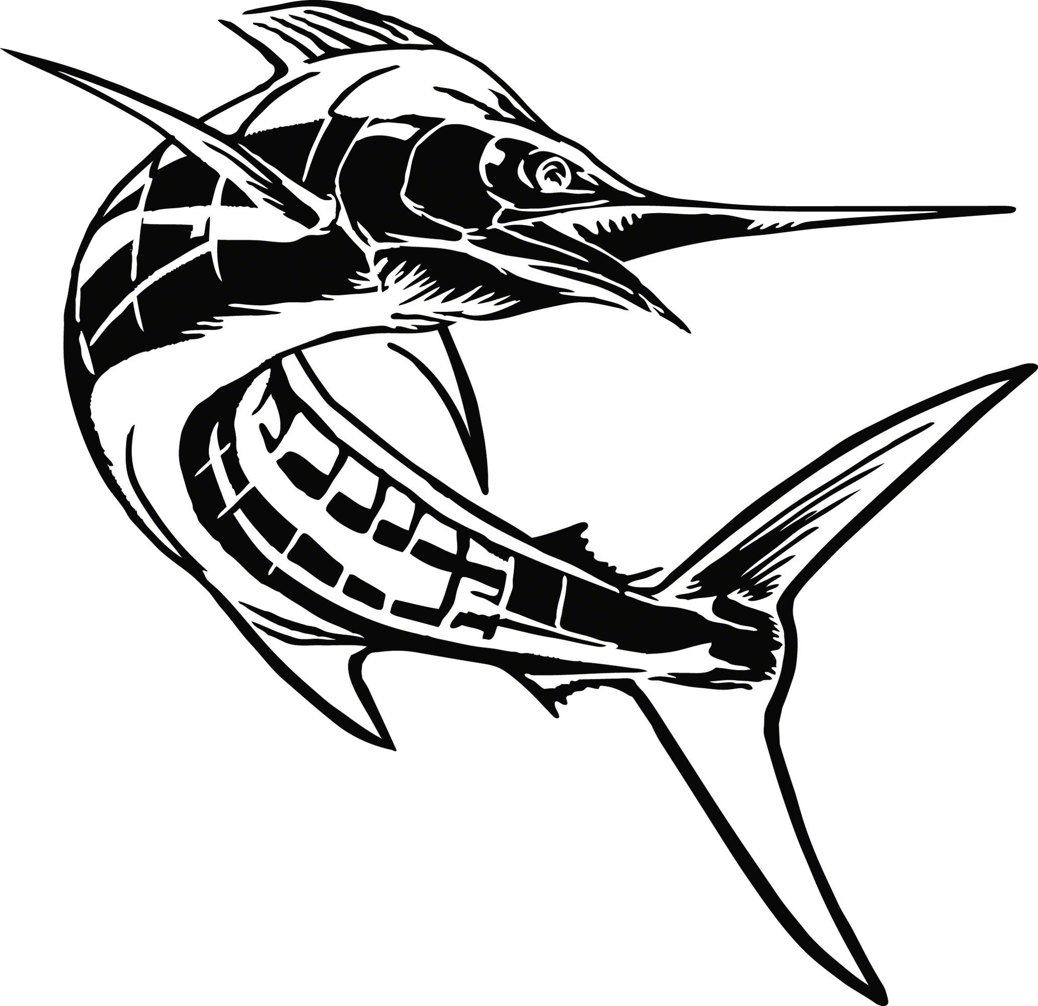 Calcutta Lvecm002 Cut Decal Marlin 7