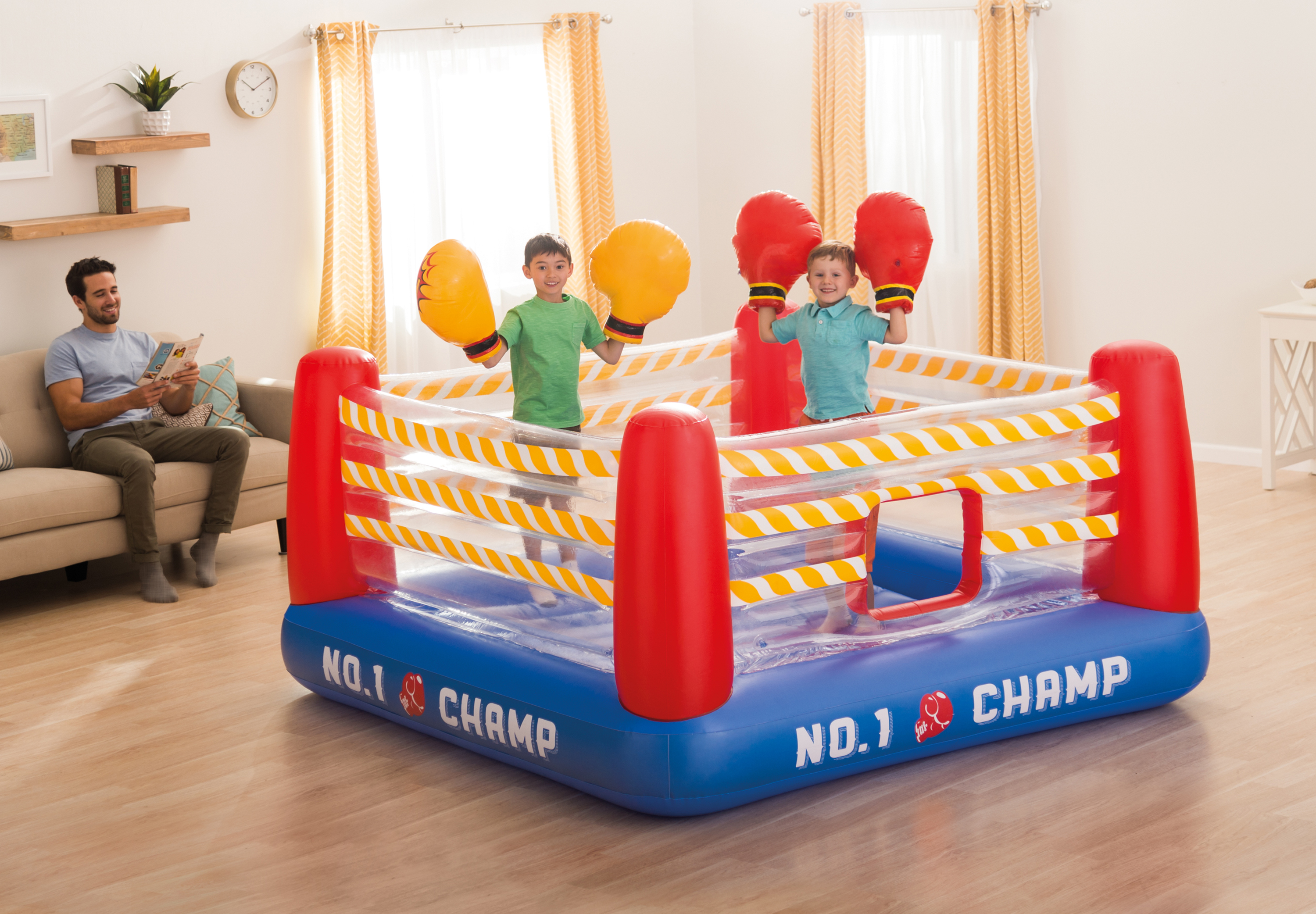 intex inflatable chairs card table and set sam s club jump-o-lene boxing ring bouncer playhouse toy 48250ep | ebay
