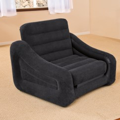 Twin Bed Pull Out Chair Parson Covers Ikea Intex Inflatable Air With Mattress Sleeper 68565e Black