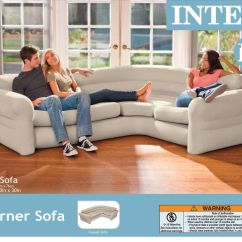 Intex Inflatable Sofa Set Of Two Pieces Victorian Sectional Corner Portable Modern Contemporary