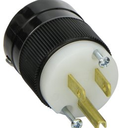 marinco 5266 15 amp 125 volt 2 pole 3 wire straight blade plug [ 1330 x 1500 Pixel ]