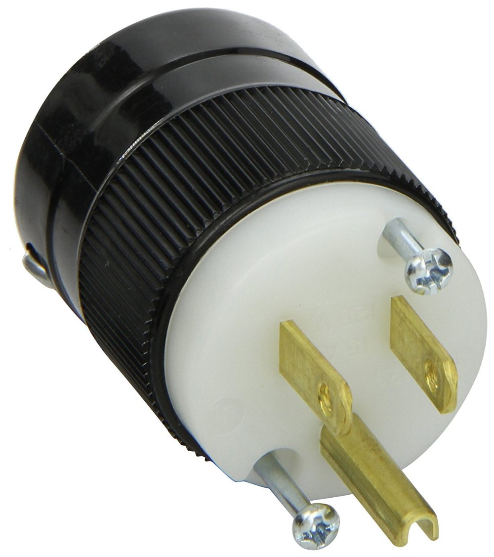 medium resolution of marinco 5266 15 amp 125 volt 2 pole 3 wire straight blade plug 3 prong plug wiring colors 2pole 3 wire plug wiring