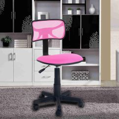 Desk Chair Pink Glass Table And White Leather Chairs Ergonomic Mesh Computer Office Midback Kid