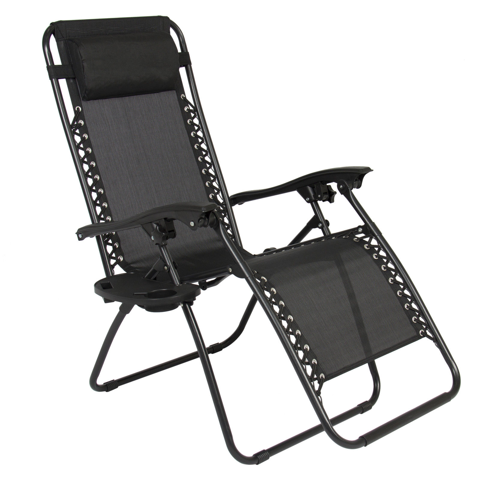 Folding Lounge Chairs 2 X Zero Gravity Chairs Lounge Patio Folding Recliner