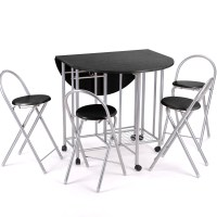 5pc Kitchen Dinette Dinning Folding Table and Chairs Set ...