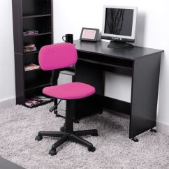 Girls Desk With Chair Sofa Armchair Covers Pink Ergonomic Mesh Computer Office Midback Kid