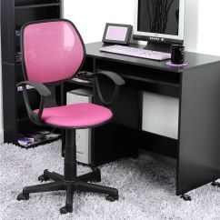 Girls Desk With Chair Basketball Game Pink Ergonomic Mesh Computer Office Midback Kid