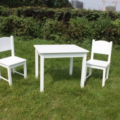 Solid Wood Childrens Table And Chairs Chair Covers Wholesale Canada Wooden Kids 2 Set Hard Sturdy