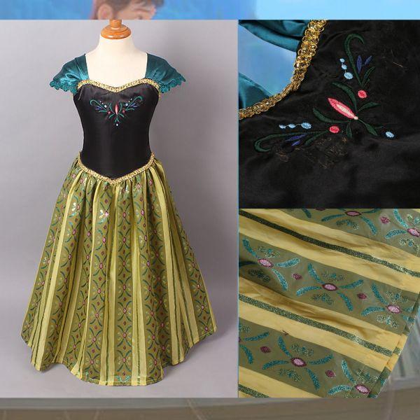 Dress Gown Costume Ice Princess Queen Kids Girls