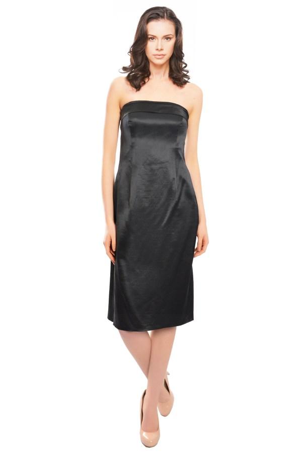 Escada Duchesse Satin Strapless Cocktail Evening Dress 40