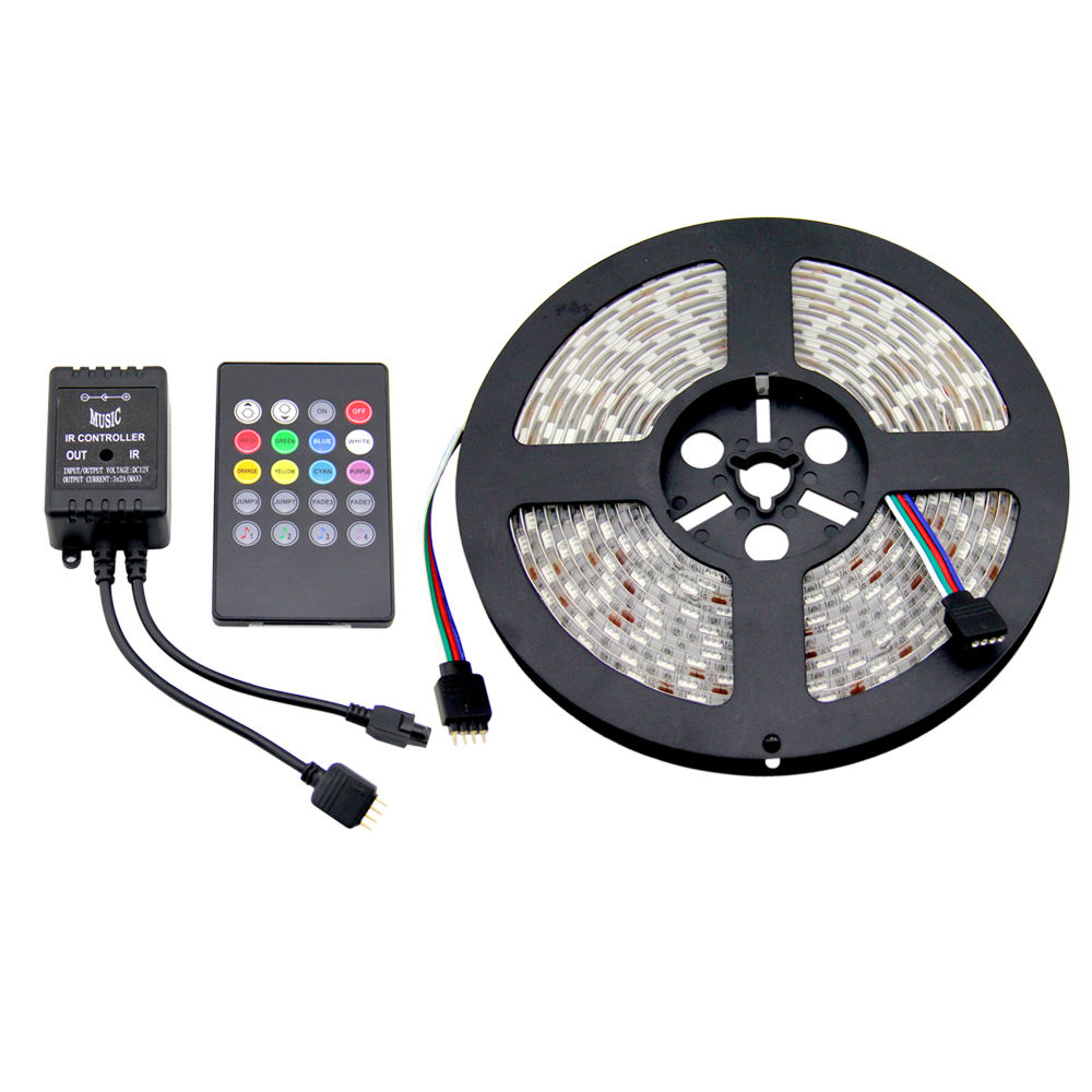 5100M 5050 RGB LED Strip Light Dimmable Sound Activated