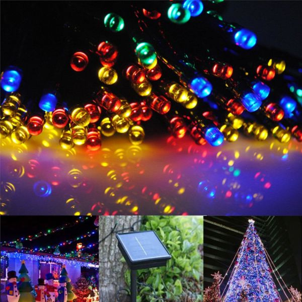 20m 100led 30m 200 Led Solar Fairy String Lights Christmas Wedding Party Outdoor