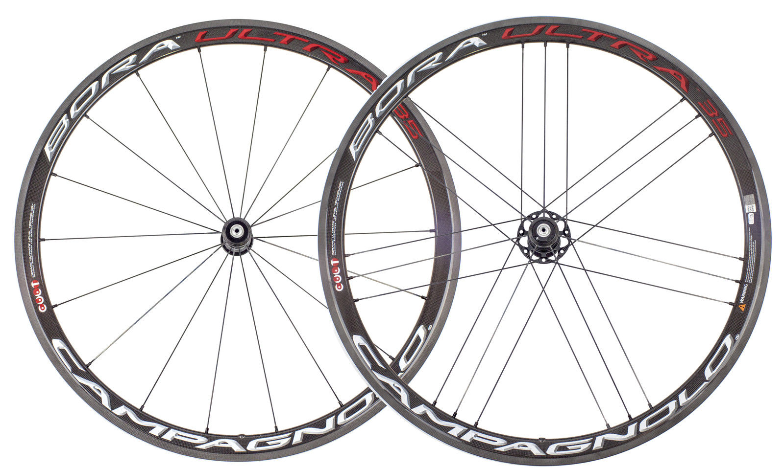 New Campagnolo Bora Ultra 35 Tubular Wheel Set Bright
