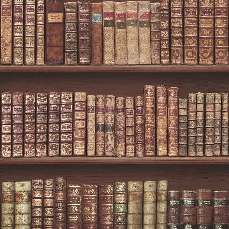3d Effect Bookcase Wallpaper Bookcase Library Wallpaper Antique Retro Books Study