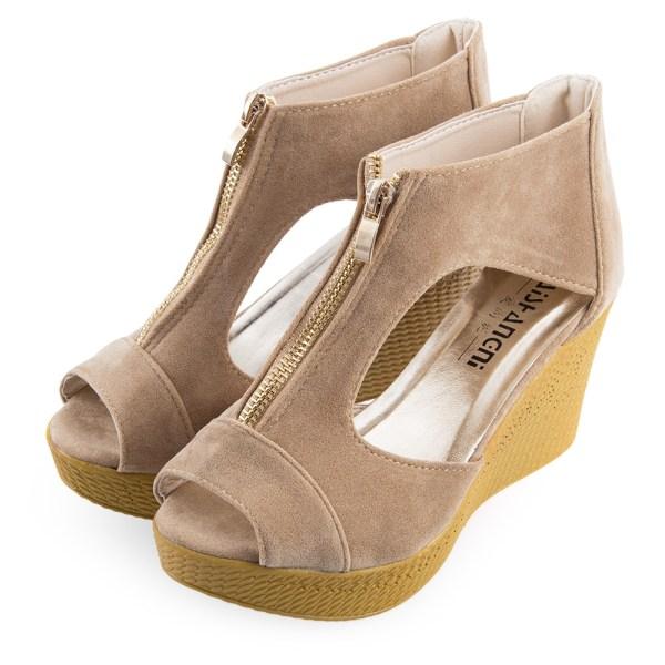High Heel Open Toe Platform Wedge Sandal