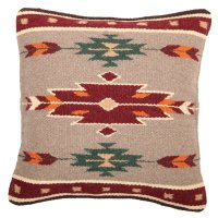 El Paso Designs Hand-Woven Wool Pillow Cover, 18 X 18 ...