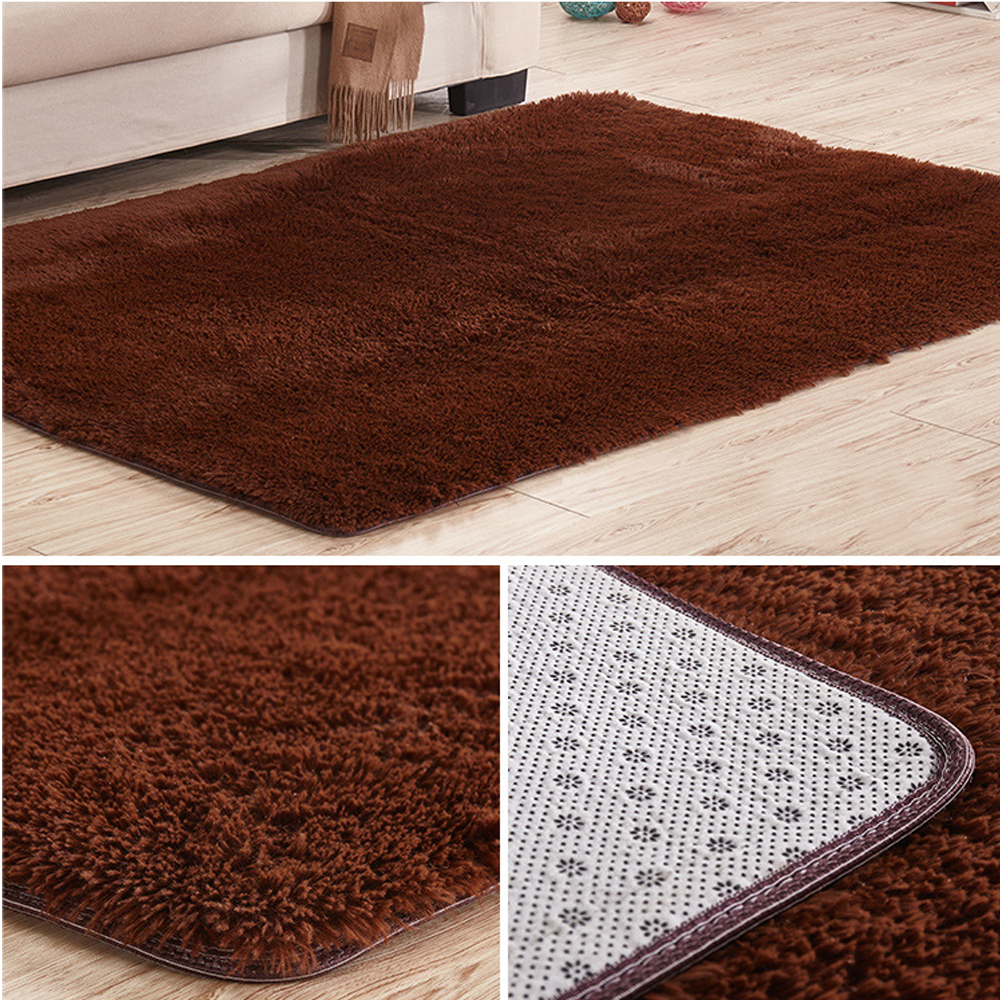 Soft Tufted Microfiber Bathroom Home Mat Rug NonSlip Back Customize Carpet  eBay