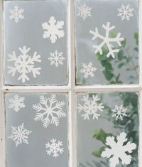 Christmas Snowflake Window Stickers with Glitter Xmas ...