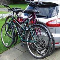 3 Bikes Bicycle Carrier V-Rack Towbar Mount Car Rear Tow ...