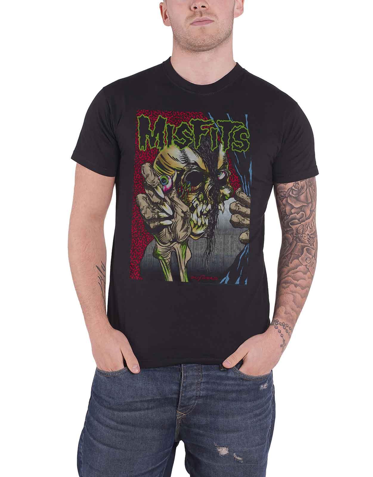 Misfits T Shirt Die Die My Darling Fiend Skull Band Logo