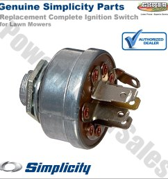 details about 1686734sm 1716061 simplicity snapper ignition switch key for lawn mowers more [ 1200 x 1200 Pixel ]