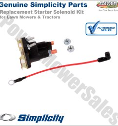 simplicity snapper starter solenoid kit for lawn mowers tractors 1686981yp 1686981sm 1724815sm [ 1200 x 1200 Pixel ]