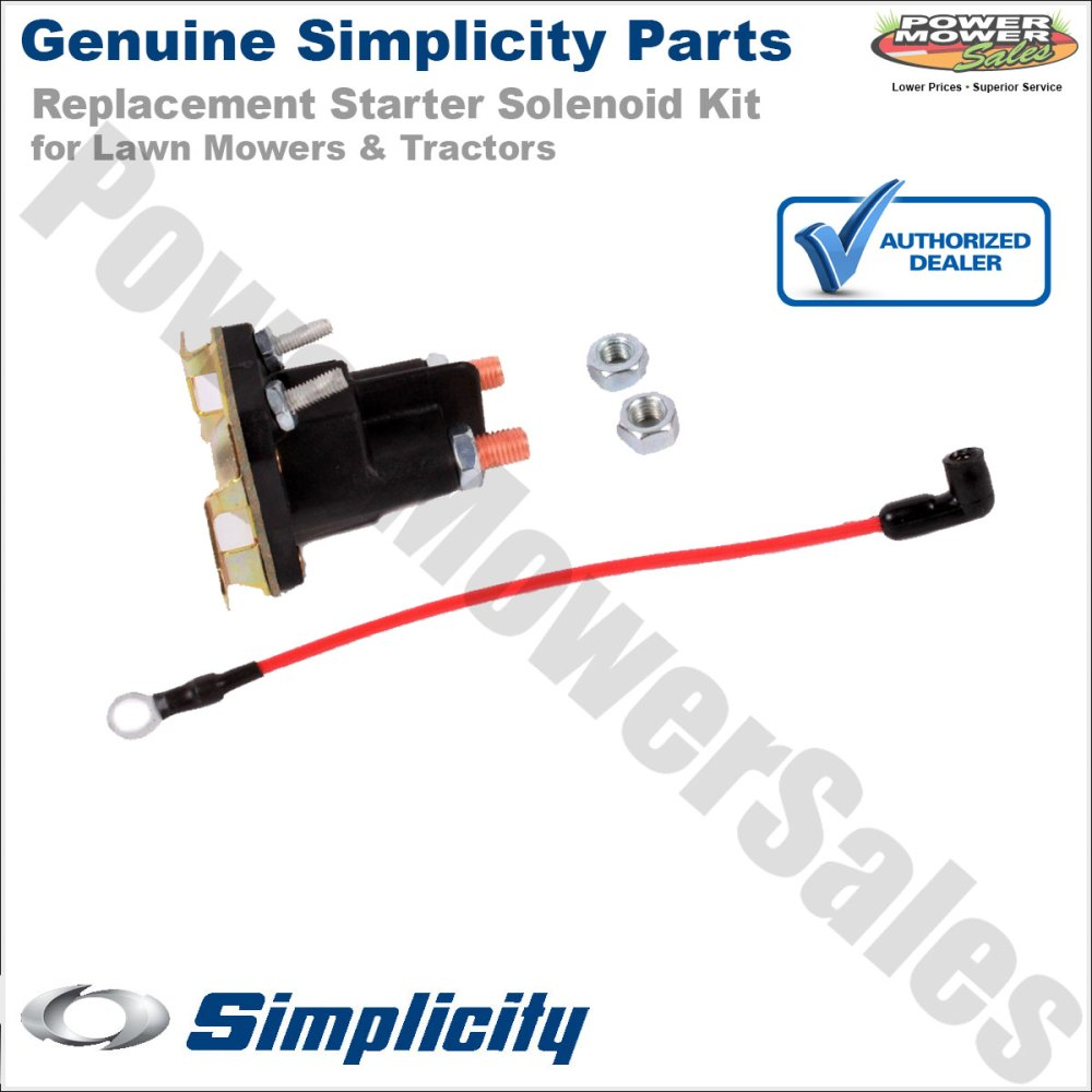 medium resolution of simplicity snapper starter solenoid kit for lawn mowers tractors 1686981yp 1686981sm 1724815sm