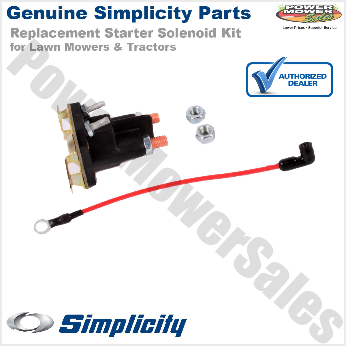 hight resolution of simplicity snapper starter solenoid kit for lawn mowers tractors 1686981yp 1686981sm 1724815sm