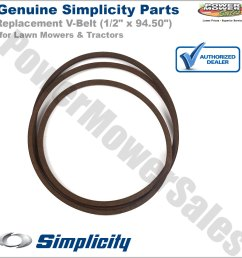 details about 1726841sm simplicity snapper 94 50 v belt for lawn mowers tractors [ 1200 x 1200 Pixel ]