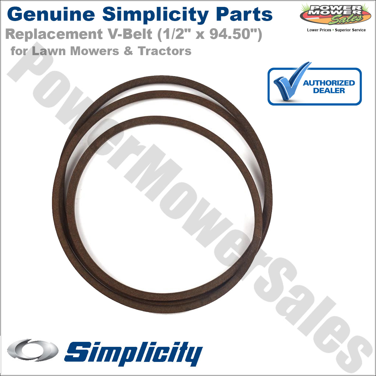 hight resolution of details about 1726841sm simplicity snapper 94 50 v belt for lawn mowers tractors
