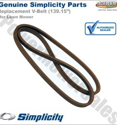 simplicity snapper briggs v belt 48 for riding lawn mowers w 52 fabricated decks zt 2500 2300 1757901yp [ 1200 x 1200 Pixel ]