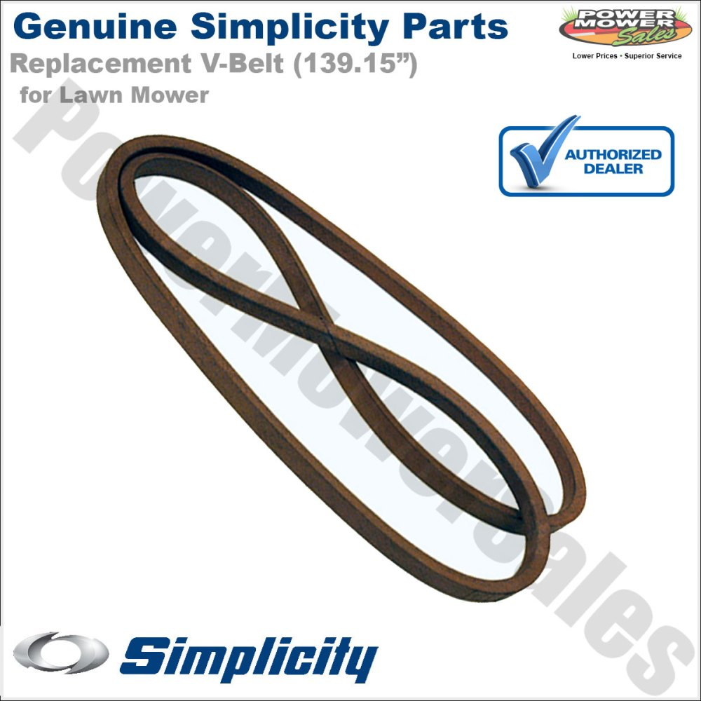 medium resolution of simplicity snapper briggs v belt 48 for riding lawn mowers w 52 fabricated decks zt 2500 2300 1757901yp