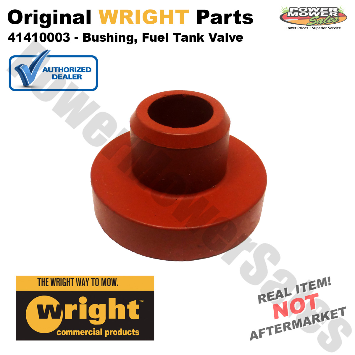 hight resolution of genuine wright mfg replacement bushing fuel tank valve for 36 42 48 52 deck mowers others 41410003