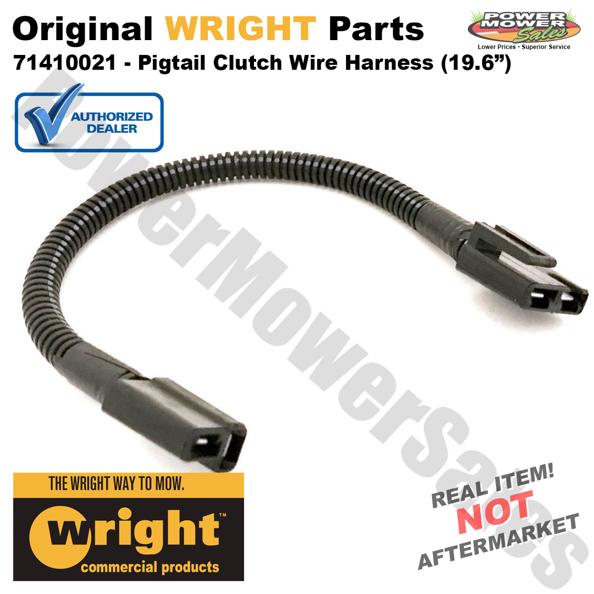 hight resolution of wright mfg pigtail clutch wire harness 19 6