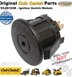 cub cadet mtd lawn mower tractor ignition switch module 725 06102b 725 04227 925 06119 [ 1200 x 1200 Pixel ]