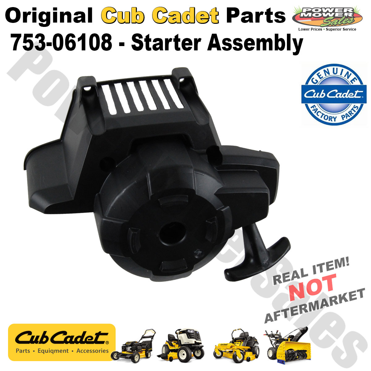 hight resolution of cub cadet replacement starter assembly for string trimmer others 753 06108
