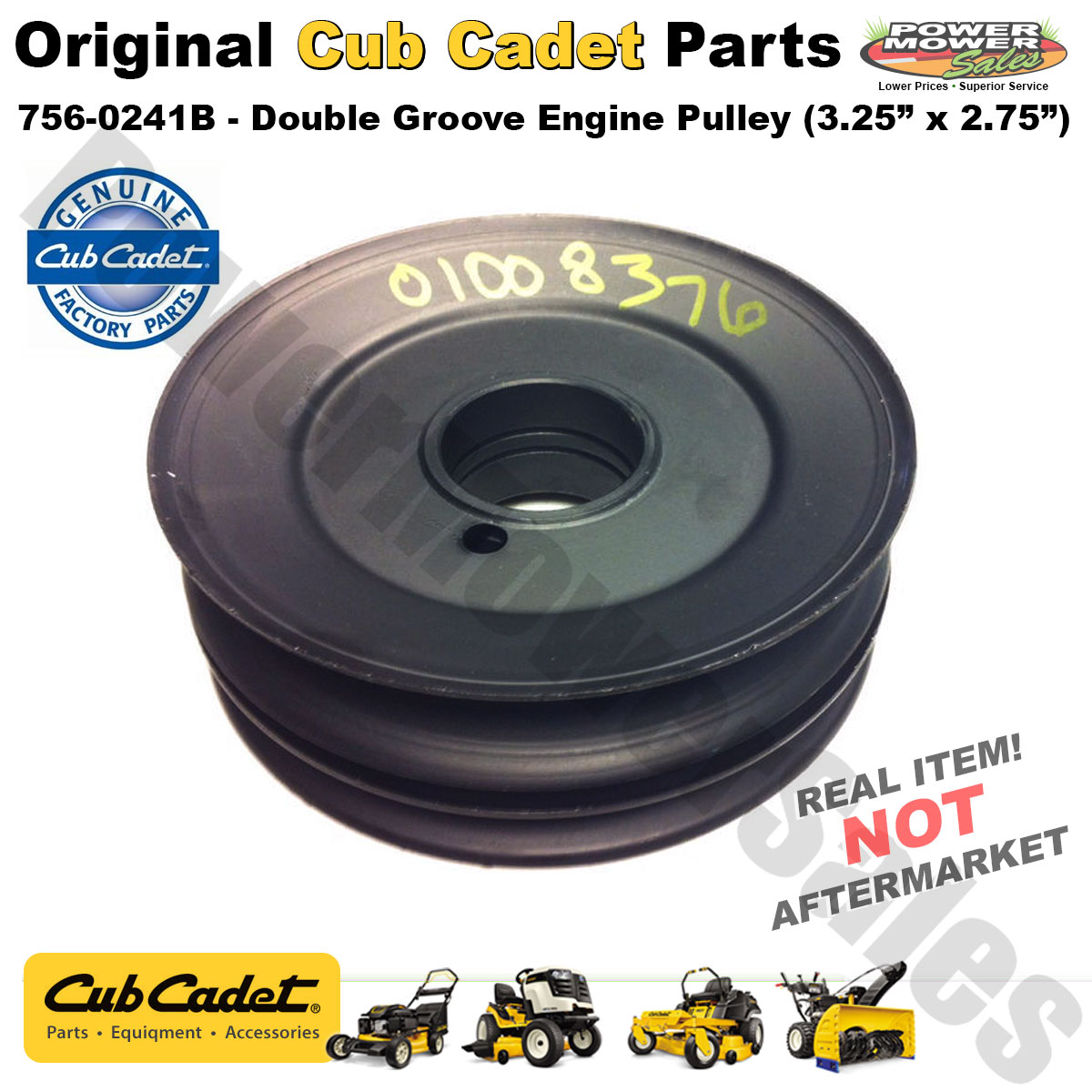 hight resolution of cub cadet mtd snow blower thrower double groove engine pulley 756 0241b 1824049 706 15931 01 756 0241 gw 1824049