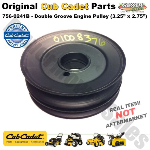 small resolution of cub cadet mtd snow blower thrower double groove engine pulley 756 0241b 1824049 706 15931 01 756 0241 gw 1824049