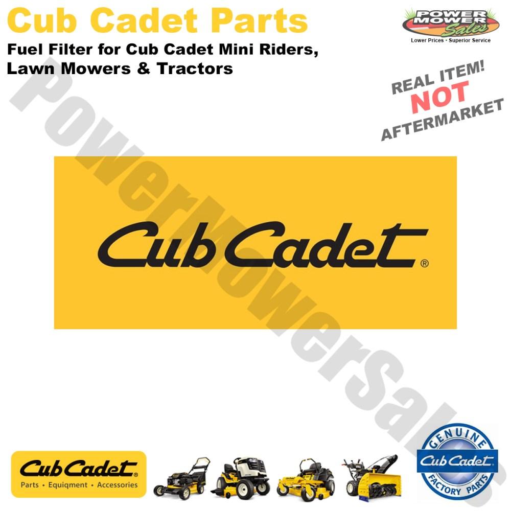 medium resolution of cub cadet mtd troy bilt fuel filter for cub cadet mini riders lawn mowers tractors 951 3013 751 3013