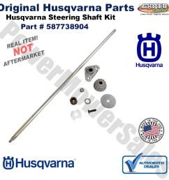 husqvarna steering shaft service kit for lawn mowers yth 2246 2348 2448 2454 587738904 532408219 [ 1200 x 1200 Pixel ]
