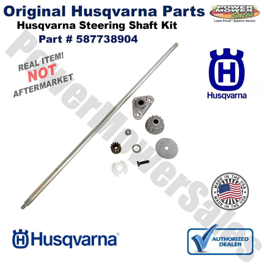 medium resolution of husqvarna steering shaft service kit for lawn mowers yth 2246 2348 2448 2454 587738904 532408219