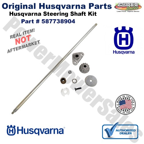 small resolution of husqvarna steering shaft service kit for lawn mowers yth 2246 2348 2448 2454 587738904 532408219
