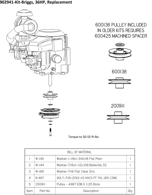 small resolution of dixie chopper engine kit for 36 hp vanguard manual clutch engines generac 27 33 hp 903277